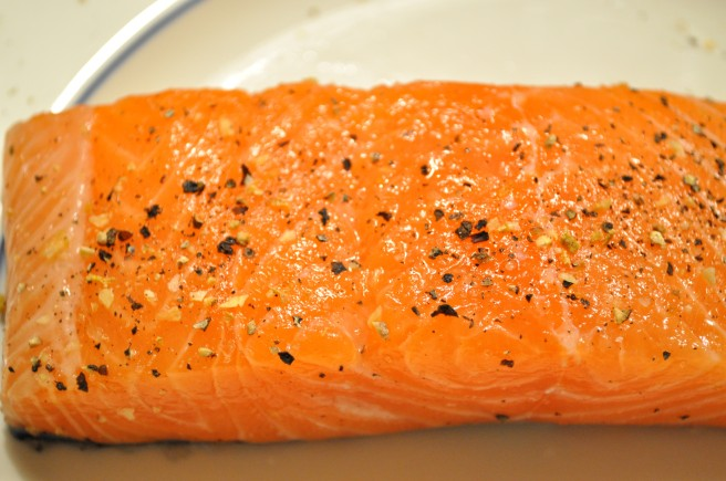 Seasoned salmon picture