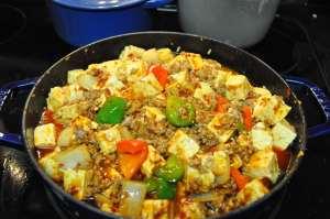 simmering mapo tofu