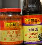 chili bean sauce and hoisin sauce