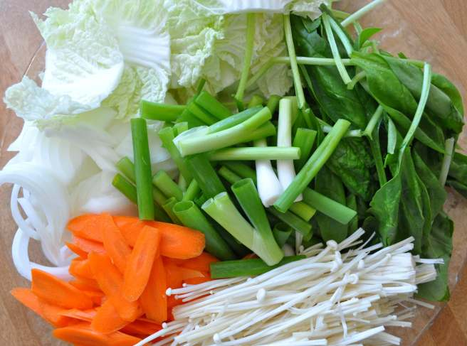 vegetables for shabu shabu