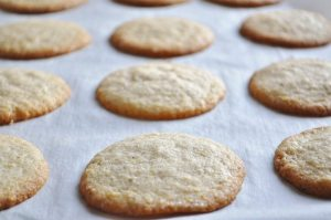 Lemon Almond Cookies right out of the oven